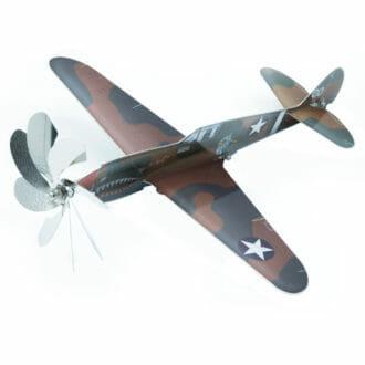 curtiss-p-40m-kittyhawk-gartendekoration-metall